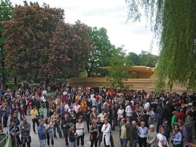 """Eröffnung der Plattform """"ich will an den Inn..."""" bei den Architekturtagen 2008 Bildnachweis: © aut"""