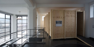 Blick in die Ausstellung im  aut, Foto: Günter Richard Wett