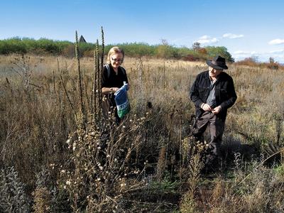 Lois und Franziska Weinberger, Feldarbeit Waldviertel, 2006