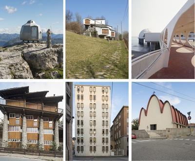 """6 in der Ausstellung """"italomodern 2"""" gezeigte Projekte"""