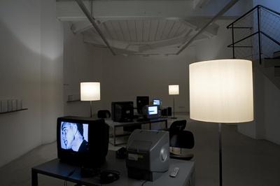 """Blick in die Ausstellung """"screen[ing] architecture"""""""
