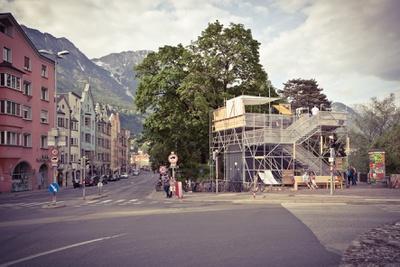 Die stattSTUBE war der zentrale Ort der Architekturtage 2012 in Tirol – Foto Hanno Mackowitz