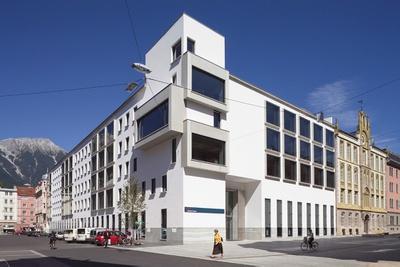 Auszeichnung des Landes Tirol für Neues Bauen 2006: BTV Stadtforum, Innsbruck, 2004–2006 (Architektur: Heinz Tesar)