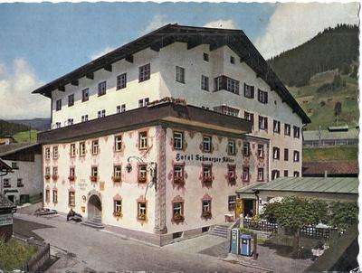 "Postkarte ""Hotel Schwarzer Adler"", Foto R. Mathis, Landeck"