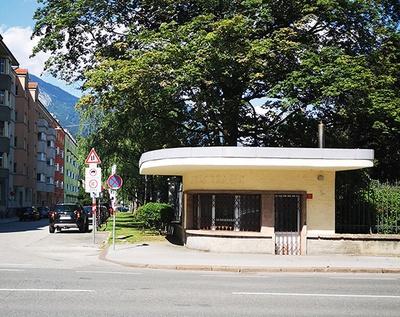 Leerstehender Kiosk, Innsbruck