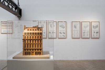 """Blick in die Ausstellung """"Paris Haussmann. Modèle de ville"""", Paris"""