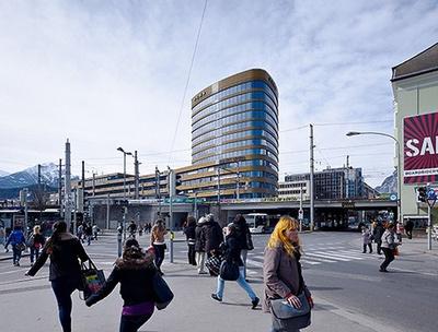 Hotel, Geschäfts- und Bürogebäude Headline, Innsbruck