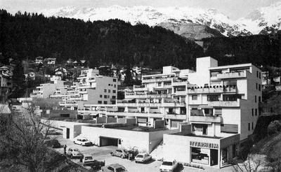 Atelier Mühlau (Andreas Egger, Hanno Schlögl, Heinz Pedrini), Terrassenhaus Sonnleitn, Innsbruck, 1972–75
