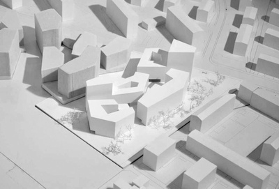 Bogenfeld Architektur, Campagne Areal – Baufeld 1, Modell